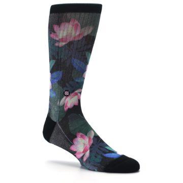 Image of Black Pink Blue Floral Men's Casual Socks (side-1-26)