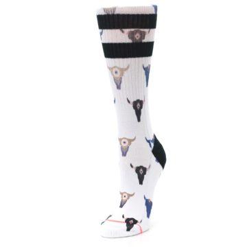 Image of Bull Skull Bullseye Women's Casual Sock (side-2-front-08)