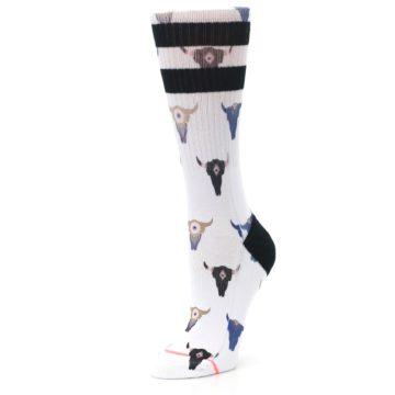 Image of Bull Skull Bullseye Women's Casual Sock (side-2-09)
