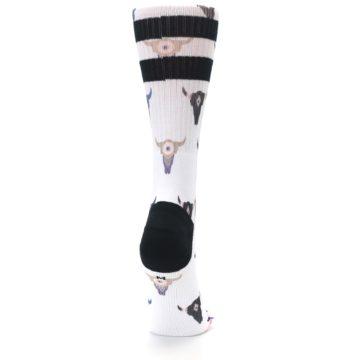 Image of Bull Skull Bullseye Women's Casual Sock (side-1-back-20)