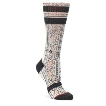 MEDIUM-Pink-Cream-Patterned-Womens-Casual-Sock-STANCE