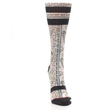 Image of Pink Cream Patterned Women's Casual Sock (front-04)