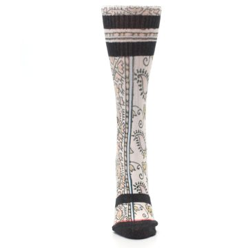 Image of Pink Cream Patterned Women's Casual Sock (front-05)