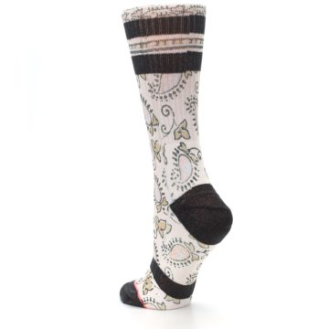 Image of Pink Cream Patterned Women's Casual Sock (side-2-back-15)