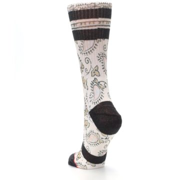 Image of Pink Cream Patterned Women's Casual Sock (side-2-back-16)
