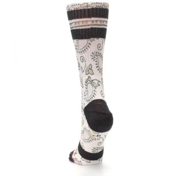 Image of Pink Cream Patterned Women's Casual Sock (back-17)