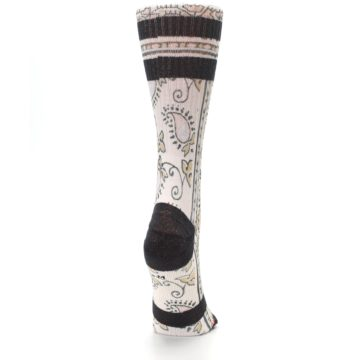 Image of Pink Cream Patterned Women's Casual Sock (side-1-back-20)