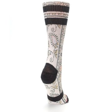 Image of Pink Cream Patterned Women's Casual Sock (side-1-back-21)