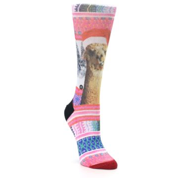 Image of Pink Tinsel Tina Women's Casual Sock (side-1-front-02)