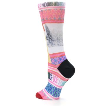 Image of Pink Tinsel Tina Women's Casual Sock (side-2-back-14)