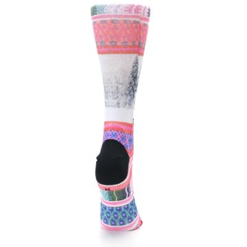 Image of Pink Tinsel Tina Women's Casual Sock (side-1-back-20)