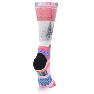 Image of Pink Tinsel Tina Women's Casual Sock (side-1-back-21)