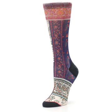 Image of Pink Multi Jasmine Pattern Women's Casual Sock (side-2-09)