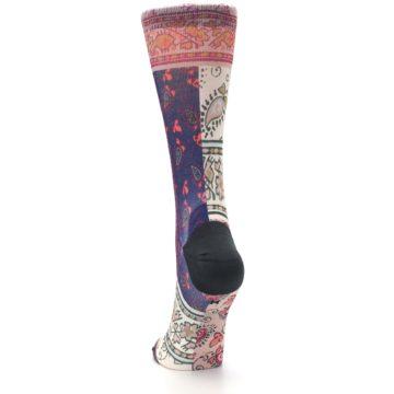 Image of Pink Multi Jasmine Pattern Women's Casual Sock (back-17)