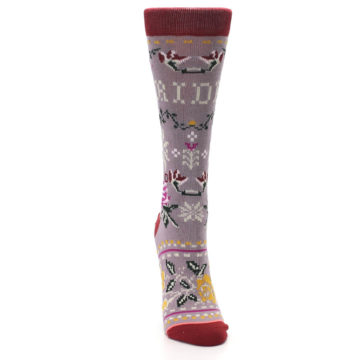Image of Lilac Floral Slay Ride Women's Casual Socks (front-04)
