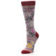 Image of Lilac Floral Slay Ride Women's Casual Socks (side-2-09)