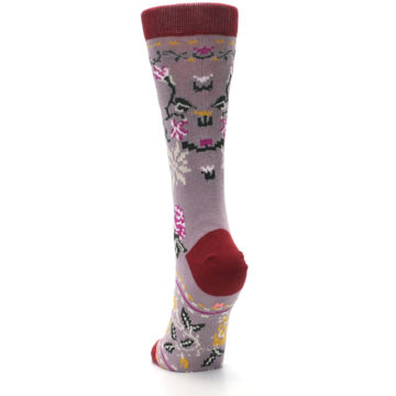 Image of Lilac Floral Slay Ride Women's Casual Socks (back-17)