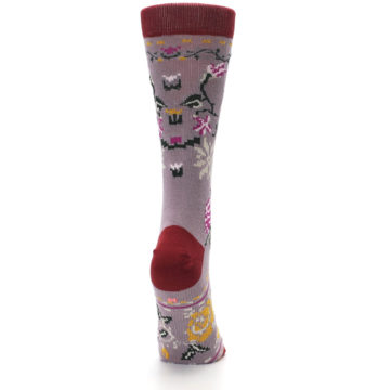 Image of Lilac Floral Slay Ride Women's Casual Socks (side-1-back-20)