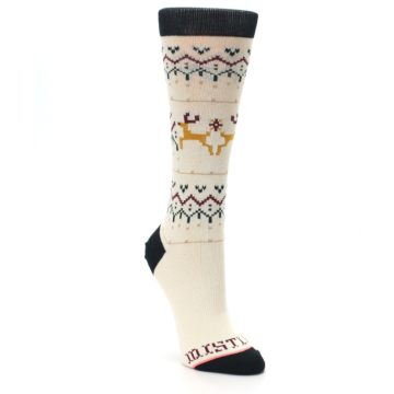 Cream-Mistle-Toes-Christmas-Womens-Casual-Socks-STANCE