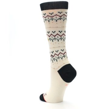 Image of Cream Mistle Toes Christmas Women's Casual Socks (side-2-back-15)