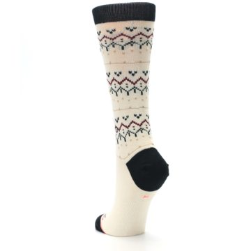 Image of Cream Mistle Toes Christmas Women's Casual Socks (side-2-back-16)
