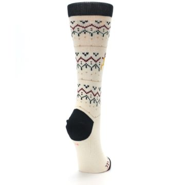 Image of Cream Mistle Toes Christmas Women's Casual Socks (side-1-back-21)