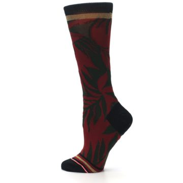 Image of Red Green Isla Girl Floral Women's Casual Socks (side-2-13)