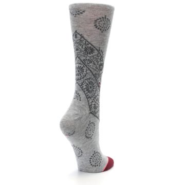 Image of Gray Rodeo Floral Women's Casual Socks (side-1-back-22)