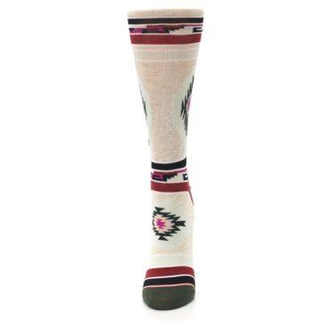 Image of Oatmeal Heather Krista Aztec Women's Casual Socks (side-2-front-06)