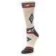 Image of Oatmeal Heather Krista Aztec Women's Casual Socks (side-2-09)