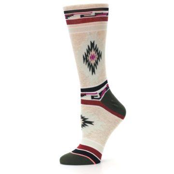 Image of Oatmeal Heather Krista Aztec Women's Casual Socks (side-2-12)