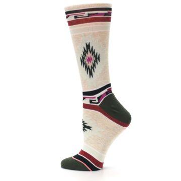 Image of Oatmeal Heather Krista Aztec Women's Casual Socks (side-2-13)