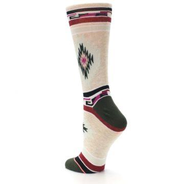 Image of Oatmeal Heather Krista Aztec Women's Casual Socks (side-2-back-14)