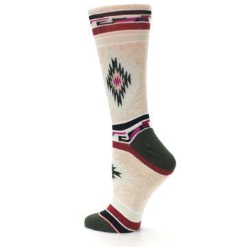 Image of Oatmeal Heather Krista Aztec Women's Casual Socks (side-2-back-15)