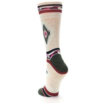 Image of Oatmeal Heather Krista Aztec Women's Casual Socks (side-2-back-16)