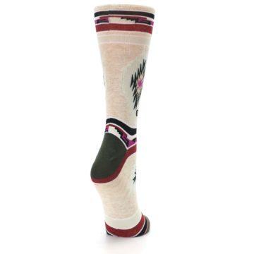 Image of Oatmeal Heather Krista Aztec Women's Casual Socks (side-1-back-22)