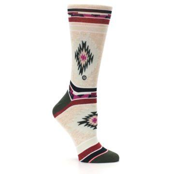 Image of Oatmeal Heather Krista Aztec Women's Casual Socks (side-1-25)