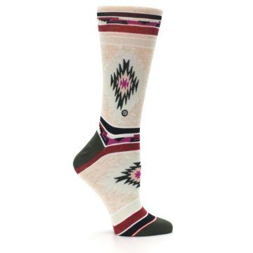 Image of Oatmeal Heather Krista Aztec Women's Casual Socks (side-1-26)