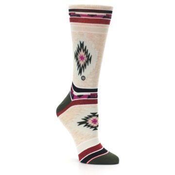Image of Oatmeal Heather Krista Aztec Women's Casual Socks (side-1-27)