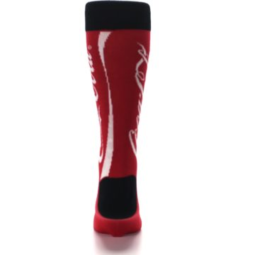 Image of Red White Coca Cola Coke Men's Dress Socks (back-18)