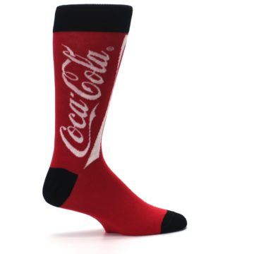 Image of Red White Coca Cola Coke Men's Dress Socks (side-1-24)
