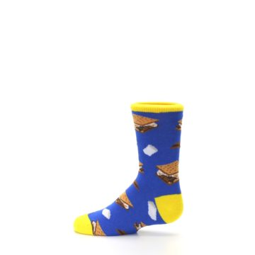 Image of Blue Marshmallow S'mores Kid's Dress Socks (side-2-12)