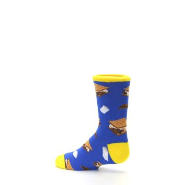 Image of Blue Marshmallow S'mores Kid's Dress Socks (side-2-13)