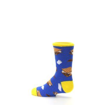 Image of Blue Marshmallow S'mores Kid's Dress Socks (side-2-13)
