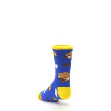 Image of Blue Marshmallow S'mores Kid's Dress Socks (side-2-back-15)