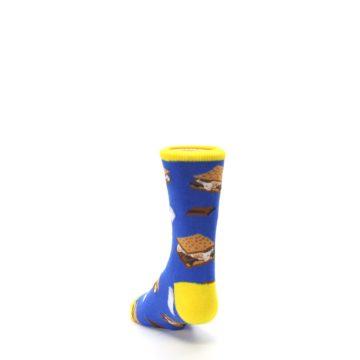 Image of Blue Marshmallow S'mores Kid's Dress Socks (side-2-back-16)