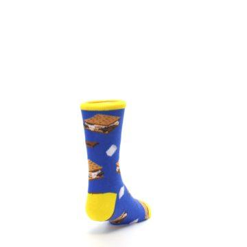 Image of Blue Marshmallow S'mores Kid's Dress Socks (side-1-back-20)