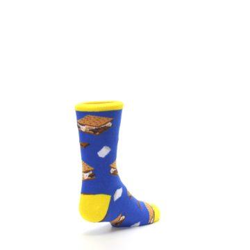 Image of Blue Marshmallow S'mores Kid's Dress Socks (side-1-back-21)