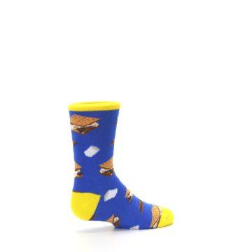 Image of Blue Marshmallow S'mores Kid's Dress Socks (side-1-23)
