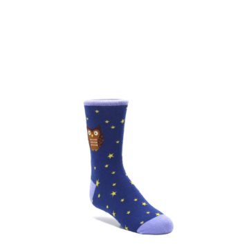 7-10Y-Blue-Brown-Hoot-Owl-Kids-Dress-Socks-Socksmith